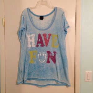"Torrid burn out ""have fun ""graphic print tee"